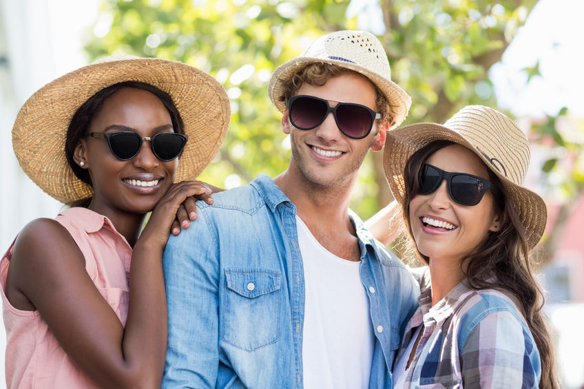 sunglasses young people